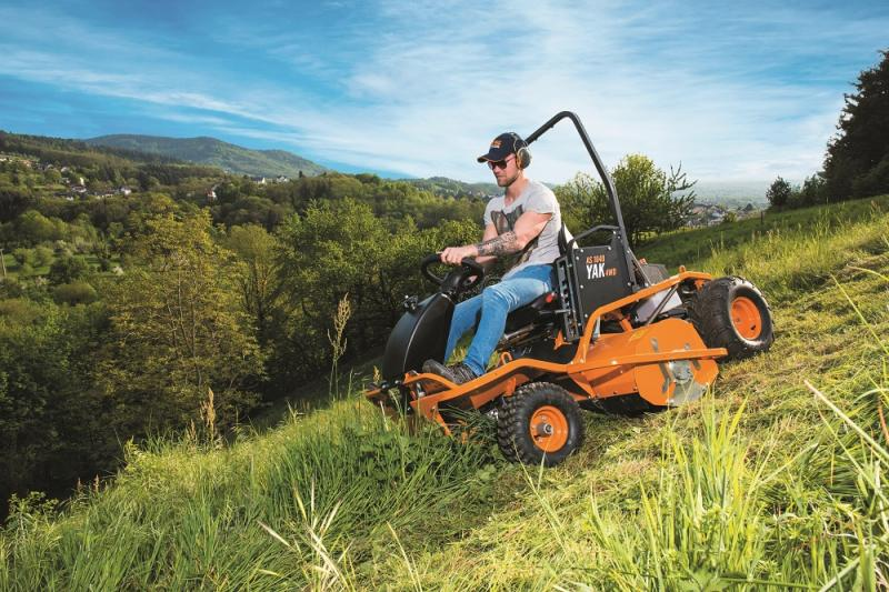 THE NEW 1040 YAK 4WD RIDE-ON FLAIL MOWER